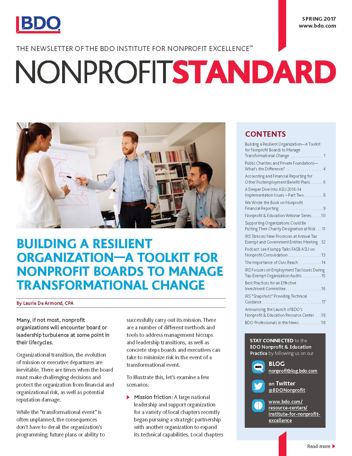 spring nonprofit standard newsletter